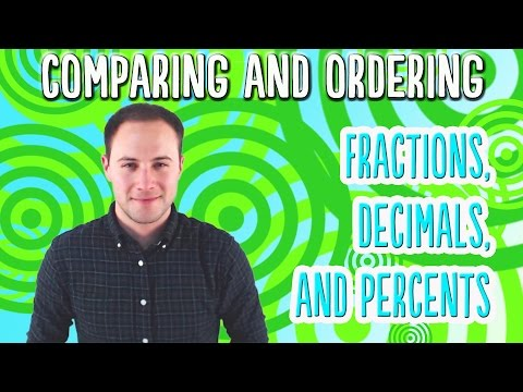 Comparing and Ordering Fractions, Decimals, and Percents