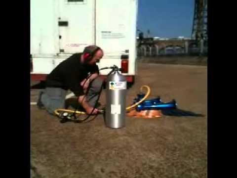 Nathan Airchime KH3A train horn running off scuba cyclinder