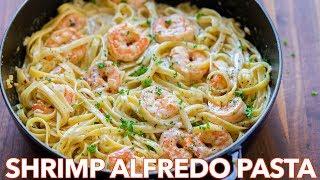 How To Make Creamy Shrimp Alfredo Pasta - Natasha