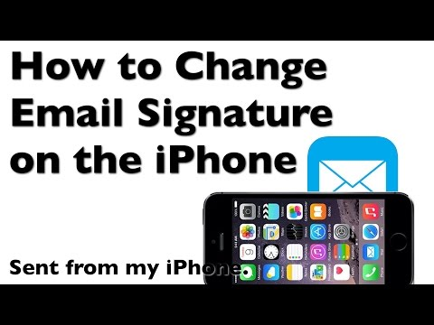 How to Change the iPhone Email Signature from