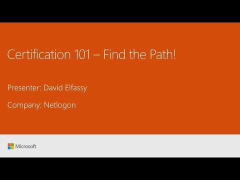 Microsoft Certification 101 (Repeat) - BRK1034R