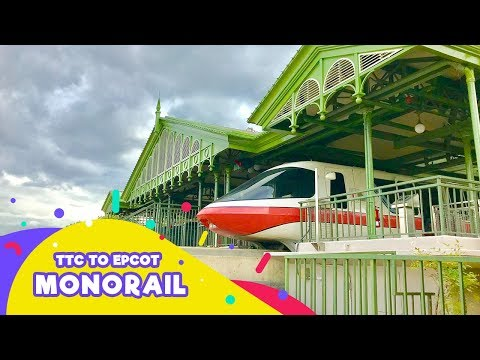 Disney World | Monorail Ride From Transportation and Ticket Center to Epcot 2017 | Real Time