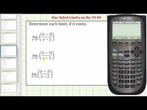 Determining One-Sided Limits on the TI-89