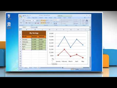 How to Add Titles in a Line Graph in Excel 2007
