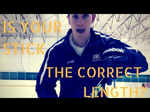 Hockey Stick Length - Do you really need to cut your stick? Pt 1