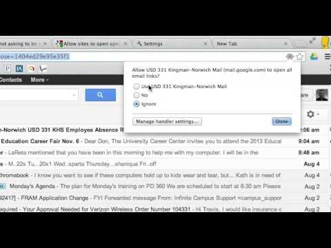 Chrome - GMail as the default mailto client