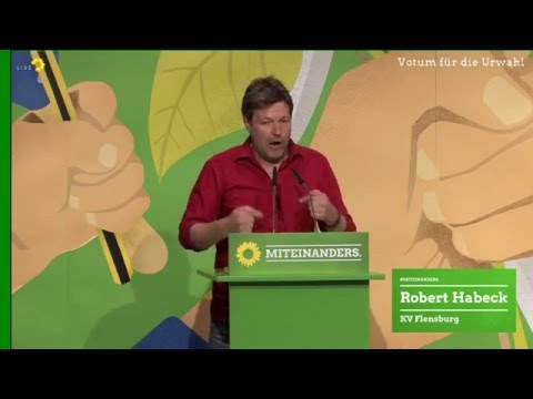 Robert Habeck  Bewerbungsrede für ein Votum zu Urwahl zur Bundestagswahl 2017