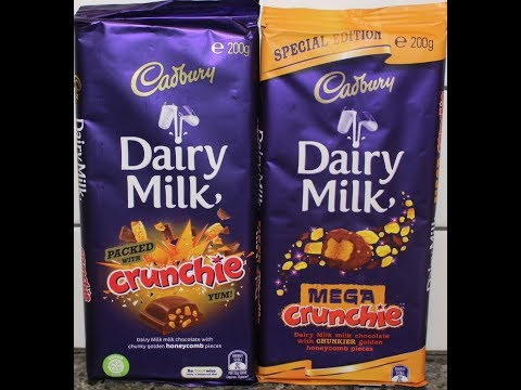 Cadbury Dairy Milk: Packed with Crunchie and Mega Crunchie Candy Bar Review