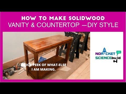 How to make simple bathroom vanity and countertop: DIY style