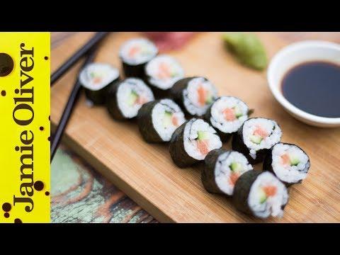 Simple Salmon Sushi | Food Busker & Haste's Kitchen