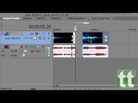 How to Cut / Split / Splice: Sony Vegas Pro 10