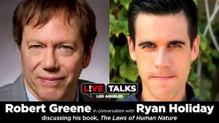 Robert Greene in conversation with Ryan Holiday at Live Talks Los Angeles