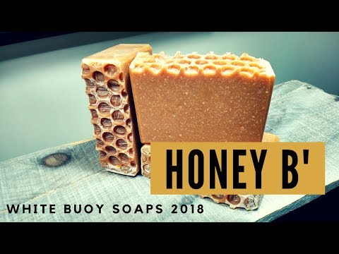 How to Make Soap/HONEY B'/Cold Process Soap Making/Tallow Soap/White Buoy Soaps