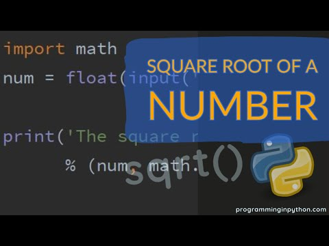 Square root of a number in Python || programminginpython.com