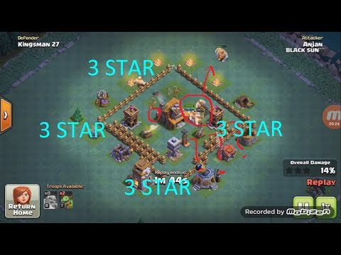 CLASH OF CLANS- BUILDER HALL 4 3STAR STRATEGY GIANT AND BABY DRAGON..... VICTORY STRAT...