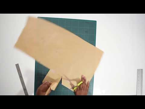 How to draft and sew a skirt back vent with lining | Sewing tutorial