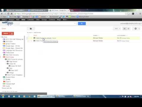 SGOs - How to open a Spreadsheet