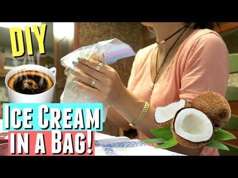 DIY HOMEMADE ICE CREAM IN A BAG RECIPE WITH ESPRESSO AND RUM