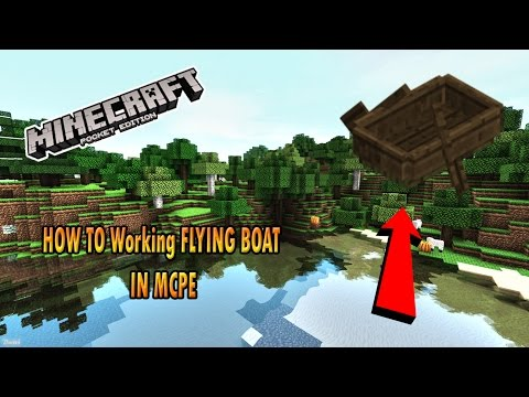 HOW TO Working FLYING BOAT IN MCPE (Minecraft PE)