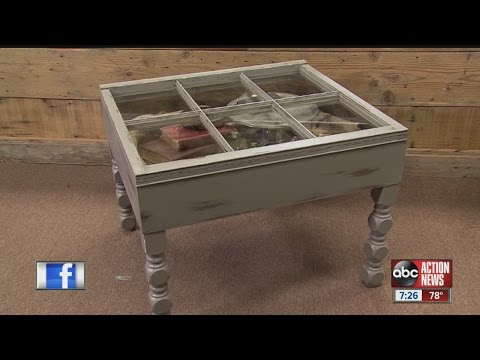 Diva of DIY: Leeann Lee sees right through an old window and spots a new coffee table
