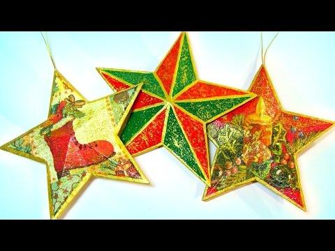 DIY Christmas crafts: 3D Stars. Estrellas 3D