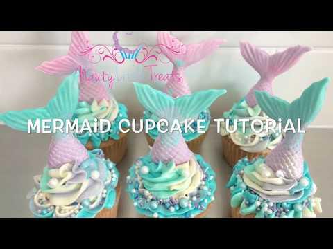 Quick and easy Mermaid cupcake tutorial
