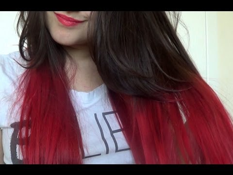 How To | Red Dip Dye Hair