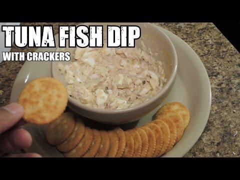 8 Min Bodybuilding Tuna Fish Dip w/ Crackers