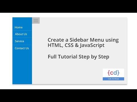 Create a Sidebar Menu using HTML, CSS & JavaScript