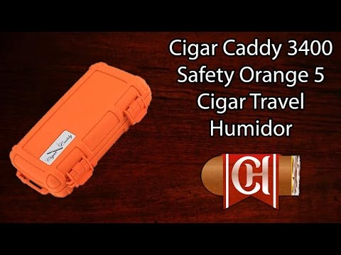 Cigar Caddy 3400 Safety Orange 5 Cigar Travel Humidor