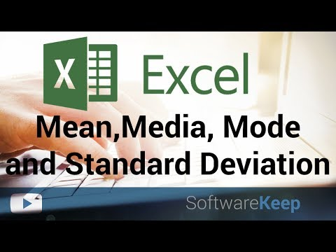 Mean, Media, Mode and Standard Deviation in excel - Excel Tutorial