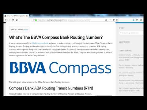 How to Find BBVA Compass Bank Routing Number?