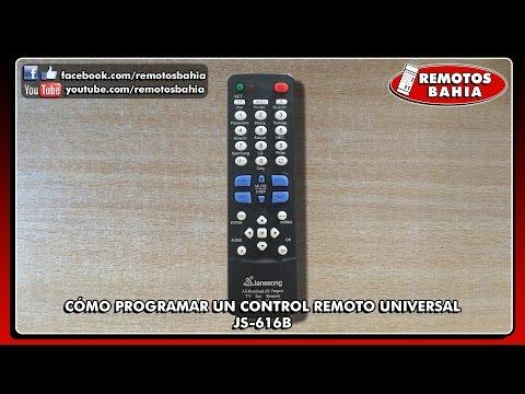 CÓMO PROGRAMAR CONFIGURAR UN CONTROL REMOTO UNIVERSAL JS-616B JANESONG