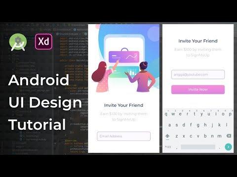 Invite Friend UI Animation Adobe Xd to Android Studio Tutorial