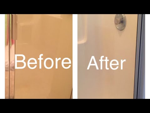 Easy & Best method clean Glass Shower Door
