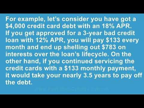 Will Taking Out a Bad Credit Loan to Pay Off Credit Card Debt Affect My Credit Score