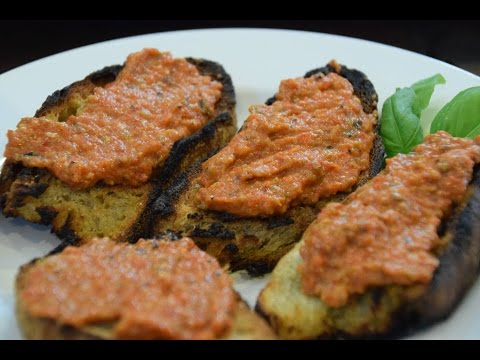 Roasted Red Pepper and Eggplant Spread Dip Cooking Italian with Joe