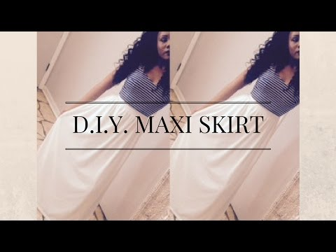 Easy & Simple DIY Maxi Skirt Tutorial