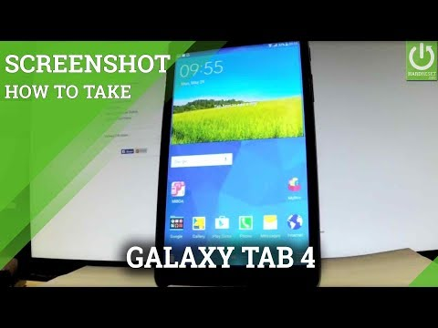 How to Take Screenshot in SAMSUNG Galaxy Tab 4 - Capture Screen