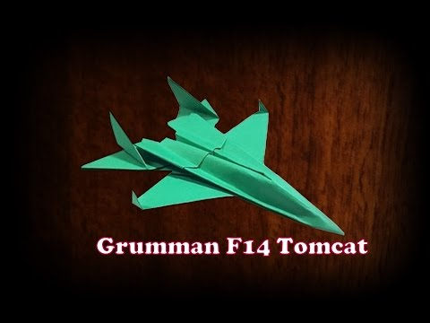How to make world's best F14 Tomcat paper aeroplane model real easy & simple