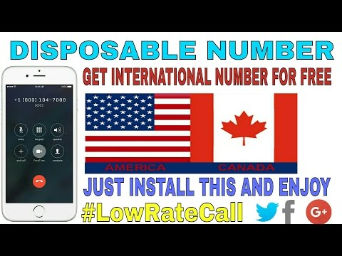 Create Your Own USA/CANADA Number Free | DISPOSABLE NUMBER