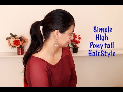 2 minutes perfect High ponytail with Extension | Simple Hairstyle