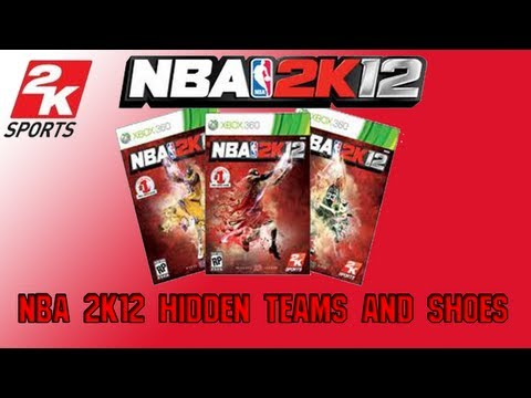 NBA 2K12 Hidden Teams & Shoes Codes ft. Ovais1470
