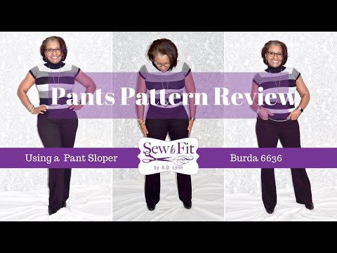 How to Fit Pants using a sloper