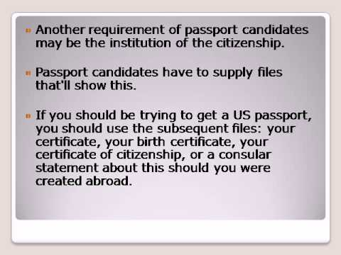 Get a passport for your child