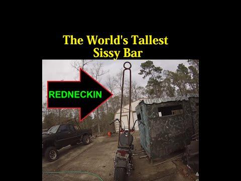 World's Tallest Sissy Bar on a Motorcycel - Harley Dyna