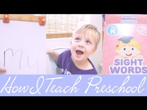 Easy & Effective PreK Homeschool Sight Word Activity | steffiethischapter