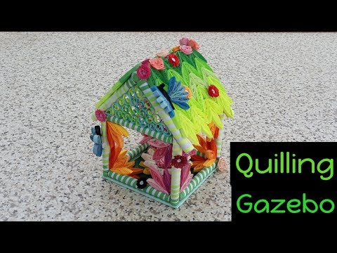 Tutorial #20 New Attractive A Quilling Gazebo / House ( Part-1 ) | Easy Concept | How to Make | CCA