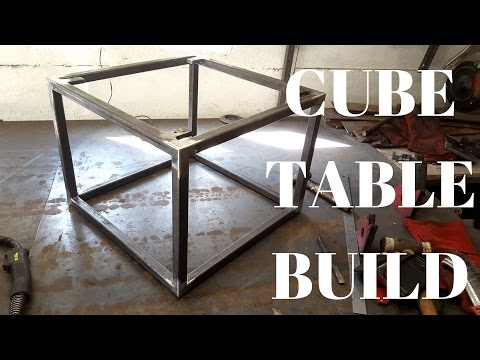 Building/welding a steel cube table