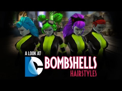DC Bombshells Hairstyles - DC Universe Online